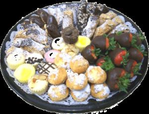 Pastry Platter w-Strawberry